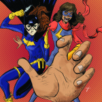 Ms. Marvel and Batgirl